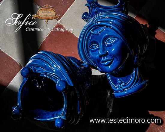 Teste di moro in ceramica di caltagirone Sofia La Maiolica snc